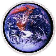 Earth From Space Centered On East Africa Round Beach Towel
