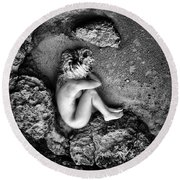 Earth Is My Birth Round Beach Towel by Stelios Kleanthous