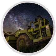 Earth Mover Round Beach Towel