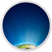 Earth Radiant Light Series - Europe Round Beach Towel