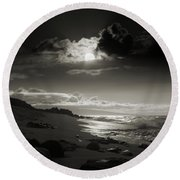 Earth Song Round Beach Towel