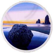 Earth Sunrise Round Beach Towel