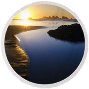 Earth The Blue Planet 7 Round Beach Towel