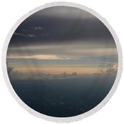 Earthly Layers Round Beach Towel
