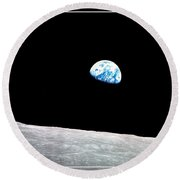 Earthrise Nasa Round Beach Towel