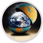 Earths Protective Cover Round Beach Towel