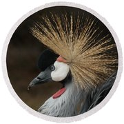East African Crowned Crane 2 Painterly Round Beach Towel