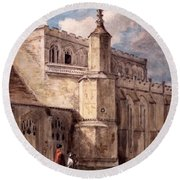 East Bergholt Church, Northside Round Beach Towel