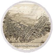 East Boston 1879 Round Beach Towel