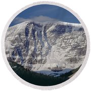1m3743-east Face Mt. Kitchener With Cloud Round Beach Towel