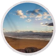 East Hampton Sunrise Round Beach Towel