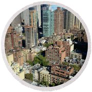 East Midtown Aerial Round Beach Towel