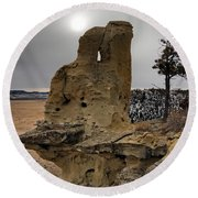 East Montana Formations Round Beach Towel