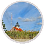 East Point In September Round Beach Towel