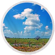 East Texas View Round Beach Towel