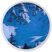 East Wall Round Beach Towel
