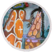 Eastanomically Nutty Round Beach Towel