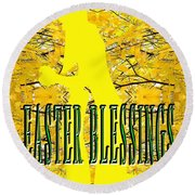 Easter 20 Round Beach Towel