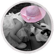 Easter Angel Two Round Beach Towel