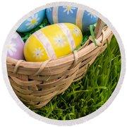 Easter Basket Round Beach Towel by Edward Fielding