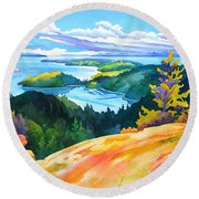 Easter Bluff View Round Beach Towel