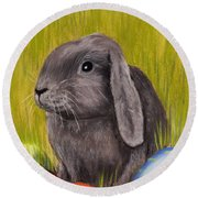 Easter Bunny Round Beach Towel
