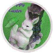 Easter Card 2 Round Beach Towel
