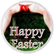 Easter Card 3 Round Beach Towel