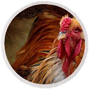 Easter Cock Round Beach Towel
