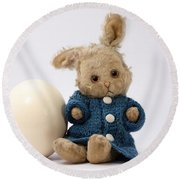 Easter Egg And Bunny Round Beach Towel