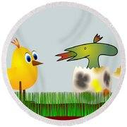 Easter Egg - Disagreeable Surprise Round Beach Towel