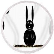 Easter Elements Round Beach Towel