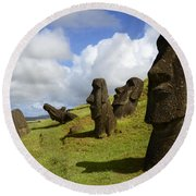 Easter Island 1 Round Beach Towel