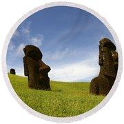 Easter Island 10 Round Beach Towel