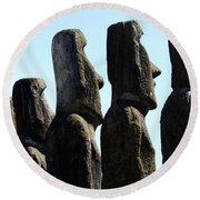 Easter Island 11 Round Beach Towel