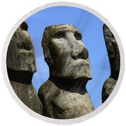 Easter Island 16 Round Beach Towel