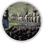 Easter Island 4 Round Beach Towel