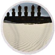 Easter Island 9 Round Beach Towel