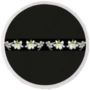Easter Lilies Panorama Round Beach Towel