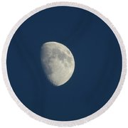 Eastern Moon Round Beach Towel