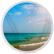 Eastern Shore I Round Beach Towel