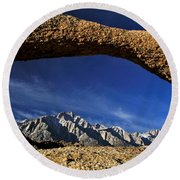 Eastern Sierra Nevada Mountains Lathe Arch Round Beach Towel