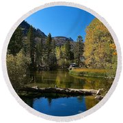 Eastern Sierras 13 Round Beach Towel