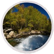 Eastern Sierras 15 Round Beach Towel