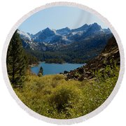 Eastern Sierras 22 Round Beach Towel