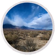 Eastern Sierras 4 Round Beach Towel