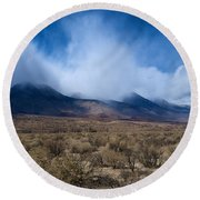 Eastern Sierras 6 Round Beach Towel
