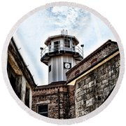 Eastern State Penitentiary Guard Tower Round Beach Towel