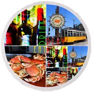 Eat Drink Play Repeat 20140713 San Francisco Round Beach Towel