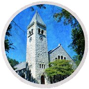 Eaton Chapel Round Beach Towel